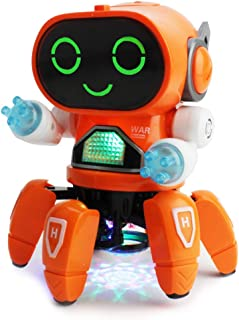 Boley Pioneer Dancing Robot in Bright Blue - Walking Dancing Electronic Robot Toy for Kids with Disco Flashing Lights and Dance Music - Battery Operated…