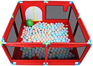 LXJJGF Baby Fence  Baby Safety Toddler Crawling Mat Fence Toy Children Fence Indoor Home Baby Game Fence Fence  send 100 Marine Balls