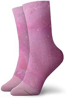 tyui7, Blush Pink Glitter Beautiful Rose Sparkle Glitter Calcetines de compresión antideslizantes Cosy Athletic 30cm Crew Calcetines para hombres, mujeres, niños