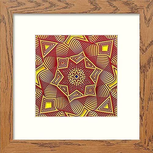 L Lumartos Piastrelle Islamiche Vintage, Stile Contemporaneo, Decorazione da Parete, in Rovere Scuro, 10 x 10 cm, 10 x 10