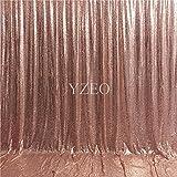 Yzeo Pailletten-Stoff, für Hochzeit, Party, Fotos als