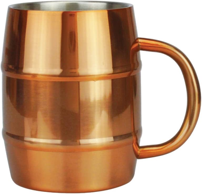 Mug - Moscow Mule Copper Attention brand Cup 16 Steel Barrel Ounce Stainless Arlington Mall