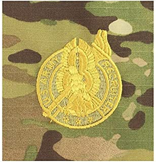 Vanguard Army Embroidered Badge ON OCP SEW ON: Recruiter Gold