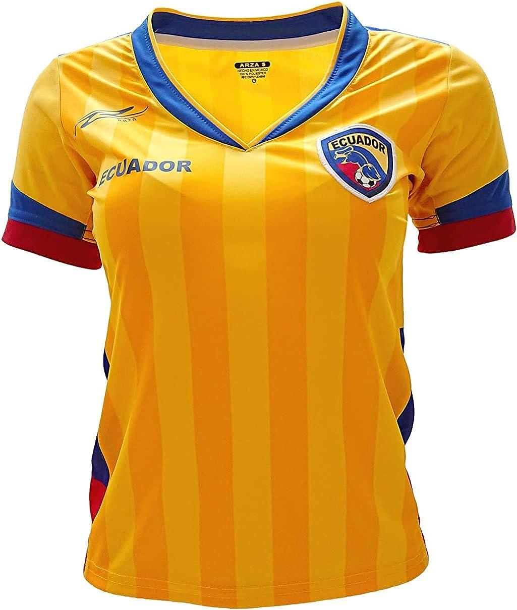 Ecuador New Arza Women Jersey Yellow 100% Polyester: Clothing
