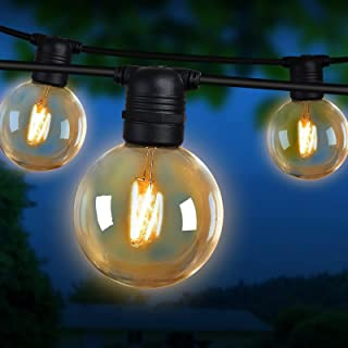 Festoon String Lights 41M 40 Bulbs Waterproof Outdoor Lighting Decoration Jingle Jollys Christmas Xmas Holiday Party Weddi...