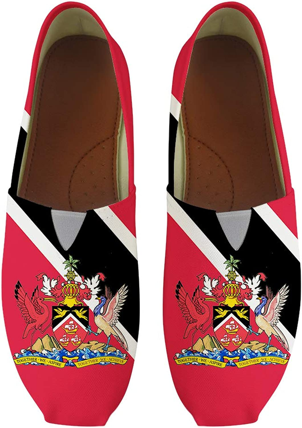 Owaheson Classic Canvas Slip-On Lightweight Driving shoes Soft Penny Loafers Men Women Trinidad and Tobago Flag National Emblem