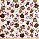Lunarable Coffee Stoff by The Yard, Kaffeetassen Takeaways