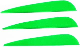 Letszhu Arrows Vanes 4 Inch Plastic Feather Fletching DIY Archery Arrows 50 Pack