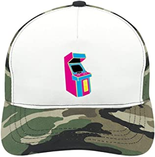 Stand Up, Old School Arcade Game Suitable for Men and Women, Army Green Baseball Cap, Adjustable Cap Circumference.