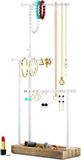 Jewelry Organizer Display Extra Tall Necklace Holder 3 Tier Jewelry Tree Stand (Carbonized Black)