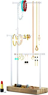 RooLee Jewelry Organizer Display Extra Tall Necklace Holder 3 Tier Jewelry Tree Stand (Torched Finish)