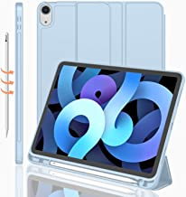 iMieet iPad Air 4th Generation Case 2020, iPad 10.9 Inch Case 2020 with Pencil Holder [Support Touch ID and iPad 2nd Penci...