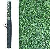 Pal Ferretería Industrial Rollo de seto Artificial ignífugo Verde de ocultación 3x1.5m (1- Rollo...