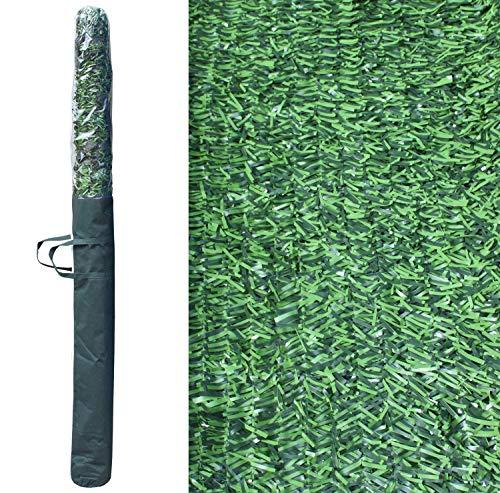 Pal Ferretería Industrial Rollo de seto Artificial ignífugo Verde de ocultación 3x1.5m