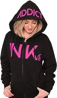 InkAddict 'Ink' Women's Black Zip Up Hoodie