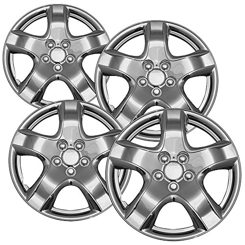 OxGord 14 inch Hubcaps Best for - Toyota Matrix - (Set of 4) Wheel Covers 14in Hub Caps Chrome Rim Cover - Car Accessories for 14 inch Wheels - Snap On Hubcap, Auto Tire Replacement Exterior Cap