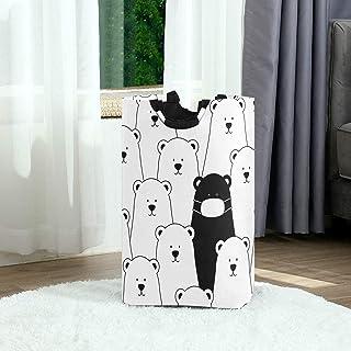 Ours polaires Panier à linge Panier à linge Sac à vêtements sale Noir Blanc Ours Seau à linge pliable Poubelle à laver Jou...