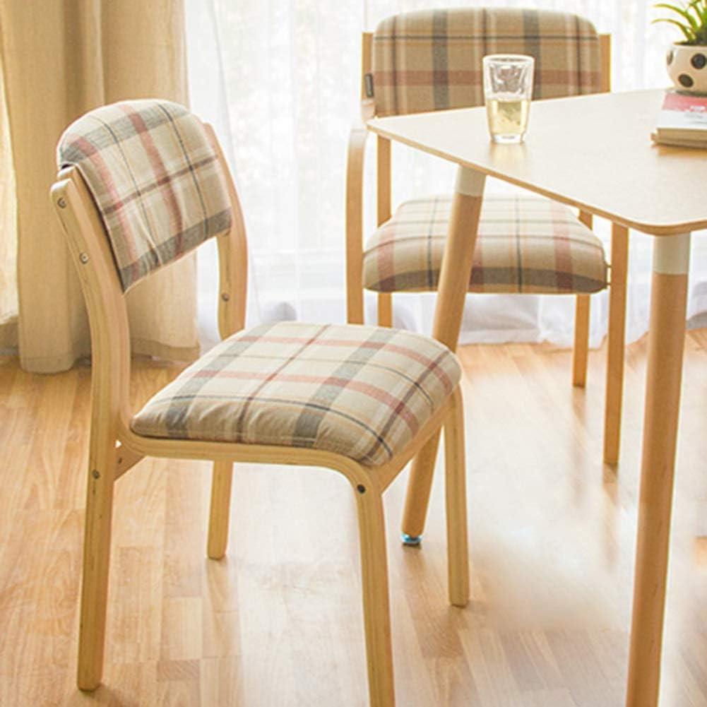 HURONG168 Chaises de cuisine Chaise de salle à manger en tissu minimaliste moderne avec table et chaises en bois siège lounge (Couleur : C) B