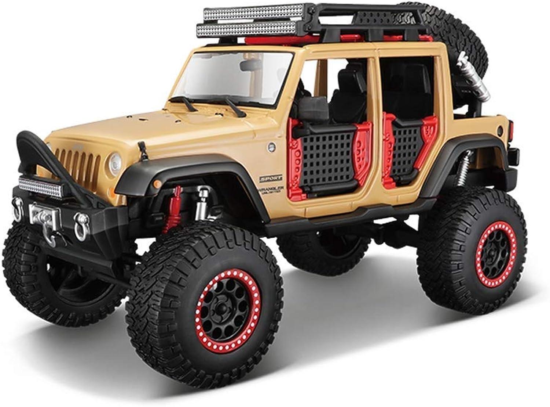 punto de venta de la marca YaPin YaPin YaPin Model Coche Jeep Wrangler Vehículo Todoterreno 1 24 Modelo de Coche de aleación de Juguete de Coche colección de Regalos del Coche decoración del hogar ( Color   Apricot )  autorización oficial