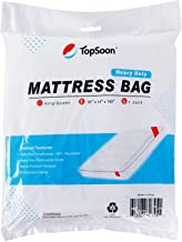 TopSoon Heavy Duty 4mil Mattress Bag for Moving Durable Mattress Storage Bag King/Queen Size Tear & Puncture Resistant Bag