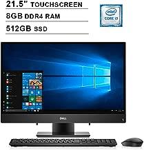 Dell 2019 Inspiron 22 3000 i3277 21.5 Inch FHD Touchscreen All-in-One Desktop (Intel Core i3-7130U 2.70 GHz, 16GB DDR4 RAM, 512GB SSD, Bluetooth, HDMI, Windows 10, Black) (Renewed)