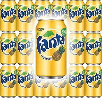 Fanta Pineapple Soda 12 Fl Oz Cans  Pack of 18 Total of 216 Fl Oz