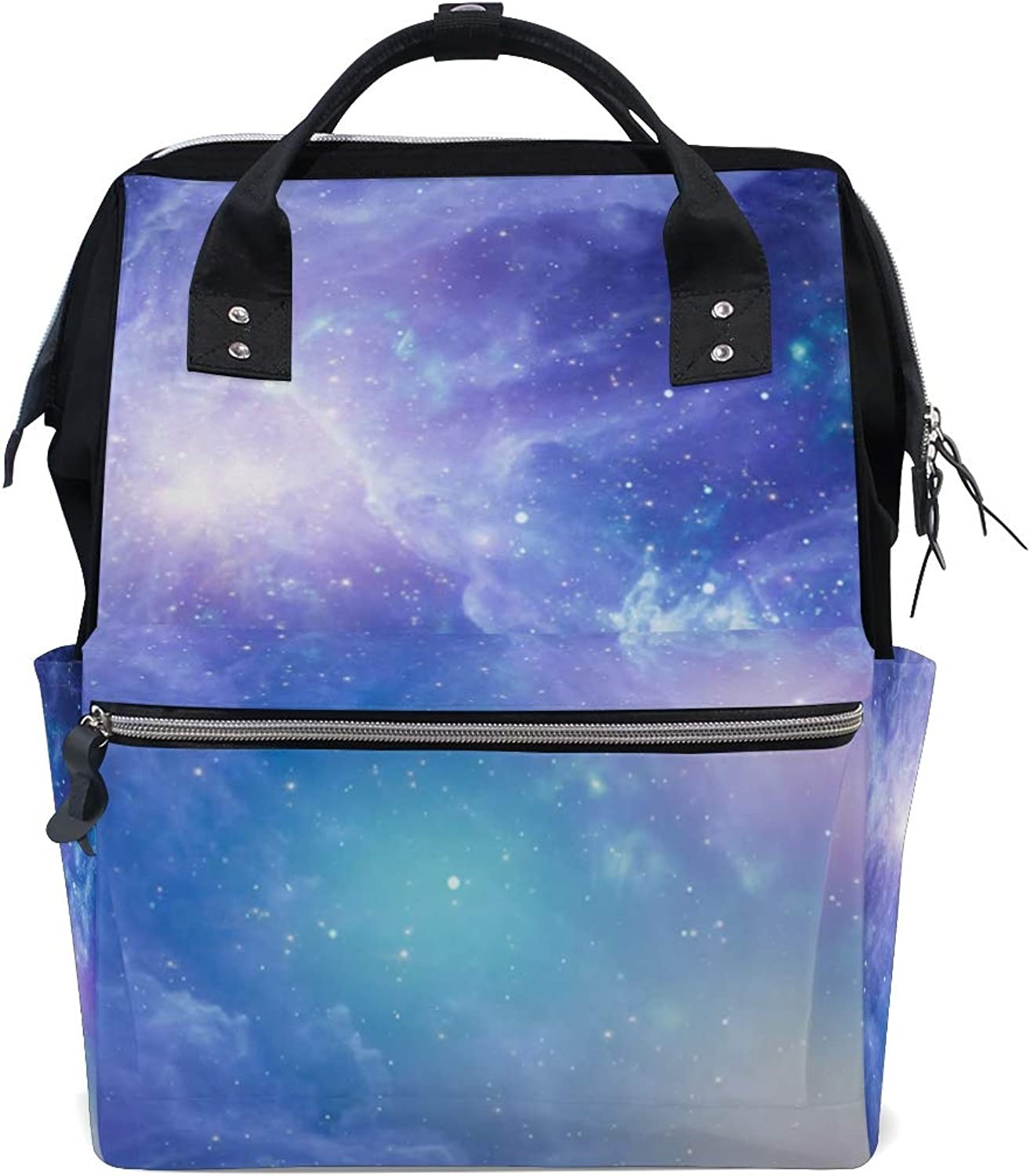 ColourLife Diaper bag Backpack Nebula And Galaxies In Space Tote Bag Casual Daypack Multifunctional Nappy Bags