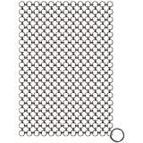 Blisstime Cast Iron Cleaner Premium Stainless Steel Chainmail Scrubber (8 IN X 6 IN)