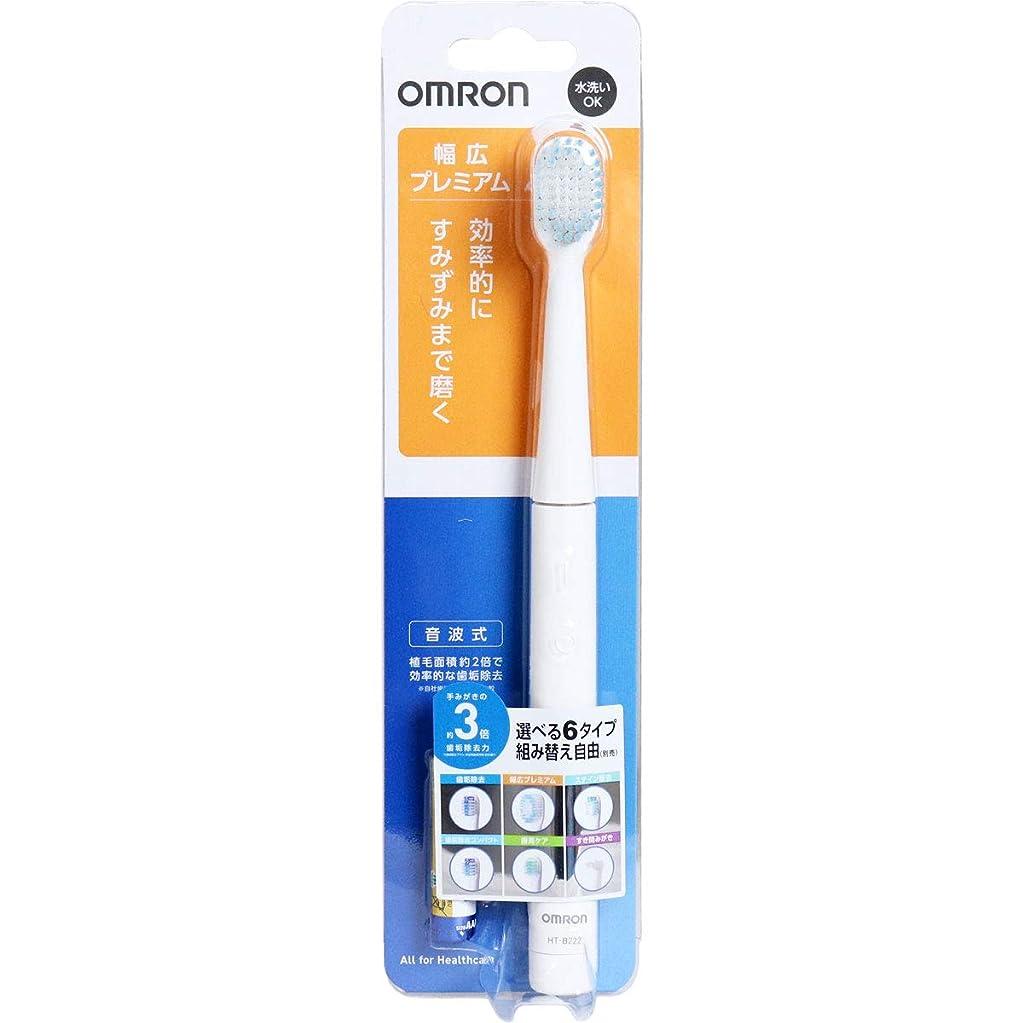 ペダル手首歌手オムロン 音波式電動歯ブラシ HT-B222-W ホワイト×2個セット
