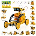 STEM 12 in 1 Education Solar Robot Toys, Solar and Cell Powered 2 in 1 DIY Building Learning Science Experiment Kit for Kids Aged 8+ and Older