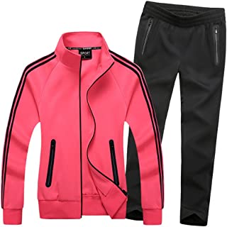 Modern Fantasy Women's Active Tracksuit Seamless Pocket Jogging Jacket & Pants Set