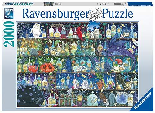 Ravensburger Puzzle 2000 Pezzi, Veleni e Pozioni, Illustrazioni, Collezione Fantasy, Jigsaw Puzzle per Adulti, Puzzles Ravensburger - Stampa di Alta Qualità, Dimensione Puzzle: 98x75cm
