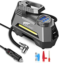 HAUSBELL Portable air Compressor for Car Tires, 12V DC Air Compressor tire inflator Pump,..