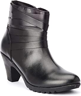 Bruno Manetti Women PU Leather Black Casual Boots