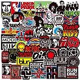Band Stickers Pack,Music Laptop Stickers,Punk Rock N Roll Hip Hop Decal Sticker Pack,Waterproof Vinyl Stickers for Laptop Guitar Water Bottle Skateboard Car Bike(100pcs)