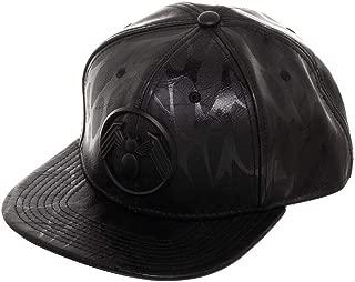 Venom Metal Front Art Black Snapback Hat
