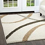 Home Dynamix Nicole Miller Synergy Quill Area Rug, 5'2'x7'2' Rectangle, Cream Brown