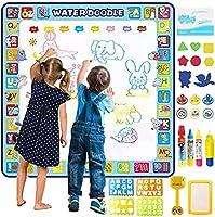 Apsung Extra Large Aqua Doodle Mat,100 x 100 cm Extra Large Water Drawing Doodling Mat Coloring Mat Educational Toys...