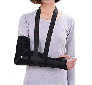Arm Sling Elbow Fractured Immobilizer Splint Broken Arm Elbow Stabilizer Padded Support Brace for Women Men Injury, Post Surgery, Subluxation, Dislocation (M)
