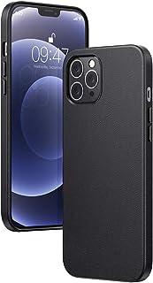 يوجرين-غطاء جلد أصلي لهاتف iPhone 12 Pro Max مقاس 6.7 بوصات، غطاء جلدي فاخر أنيق للحماية الكاملة مضاد للصدمات ومضاد للانزل...