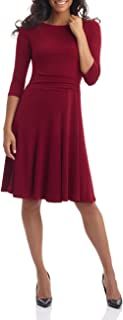 Women's Flippy Fit N' Flare Dress with 3/4 Sleeves