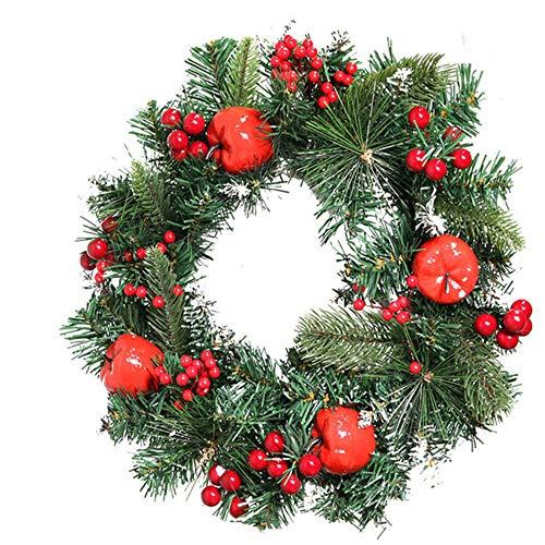WACPXJH Ghirlanda di Natale Decorazione Porta Fiori Artificiali Pianta Ghirlanda Decorazione da Parete Cuore Ghirlanda Rotonda Ghirlanda Decorazioni per la casa