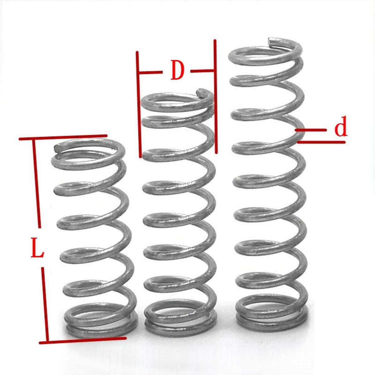 20Pcs Drahtdurchmesser = 0.5mm Od = 4mm Edelstahl Micro Return Kleine Compression Anti Corrosion Zugfedern 0,5 x 4 x 10 mm