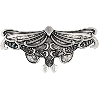 Art Nouveau Leaf Hair Clip, Large Hand Crafted Metal Barrette Made in the USA with an 80mm Imported French Clip by Oberon Design