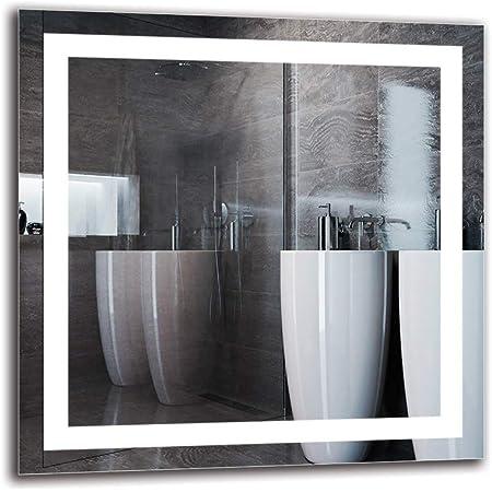 M1ZP-47-40x40 Bathroom Mirror with Light./ Badezimmer Dekoration und Badezimmerausstattung Unterschiedliche Lichtanordnung Wandspiegel Gro/ß und Klein ARTTOR Spiegel mit Licht