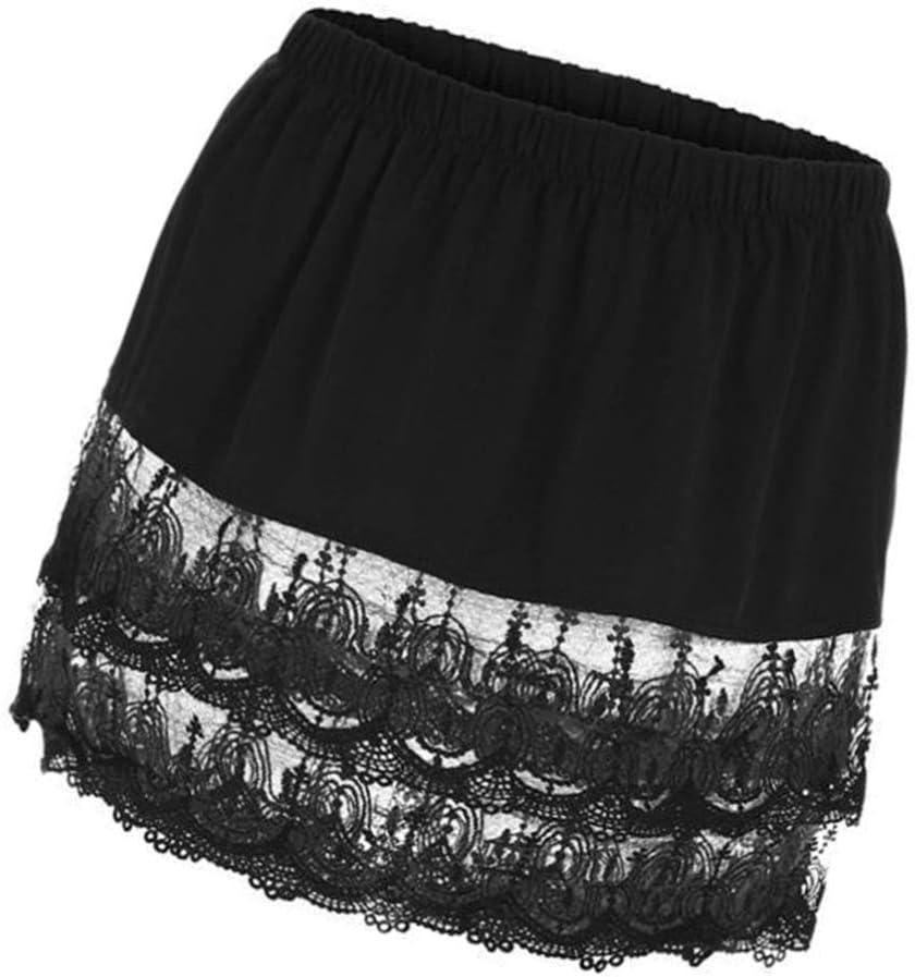 BESTOYARD Black Lace Skirt Fake Decor Casual Woman Lace Skirt