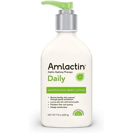 AmLactin Daily Moisturizing Body Lotion, 7.9 Ounce (Pack of 1) Bottle, Paraben Free