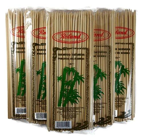 Roland Bambus Spieße 25,4cm Lang, 4mm, 100Stück Bamboo, Pale Blonde