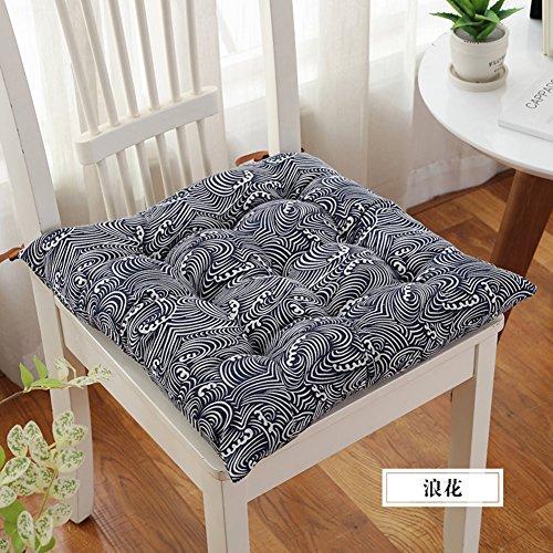 VDEGHSDGHFDDS Coussin de Chaise d'hiver,épaississement des Coussins de Chaise de Bureau,Coussin pour Chaise d'Ordinateur Coussin d'étudiant Quatre Saisons Peuvent Manger Coussin-K 48x48cm(19x19inch)