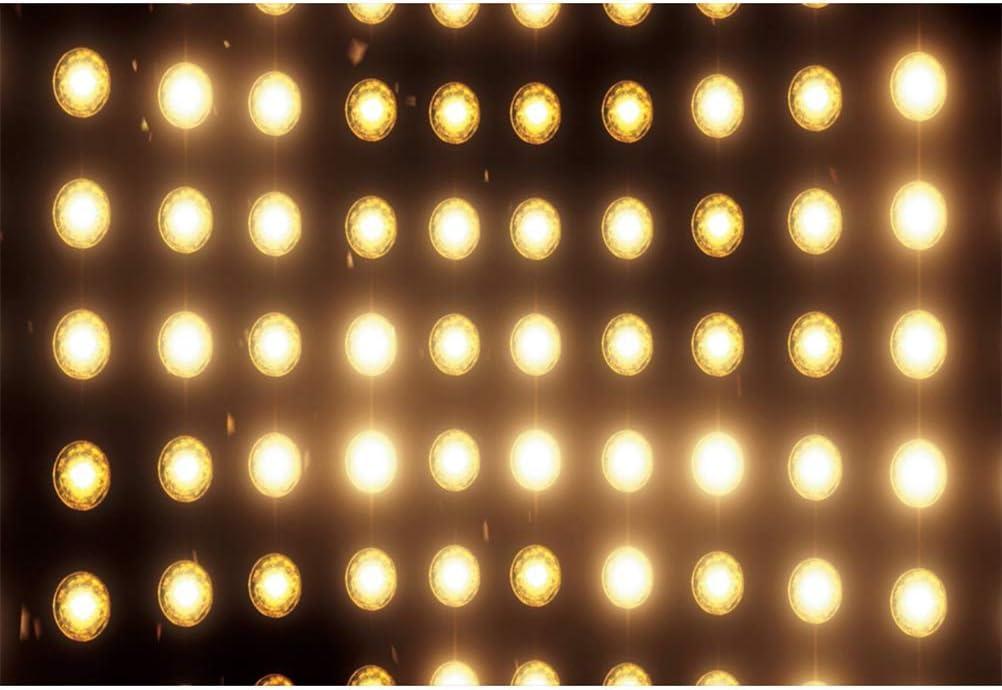 Leowefowa 12x8ft Bright Flood Lights Backdrop Vinyl Photography Background Child Adult Portrait Shoot Selfie Background Themed Party Banner Studio Photo Booth Props Event Activities Decor